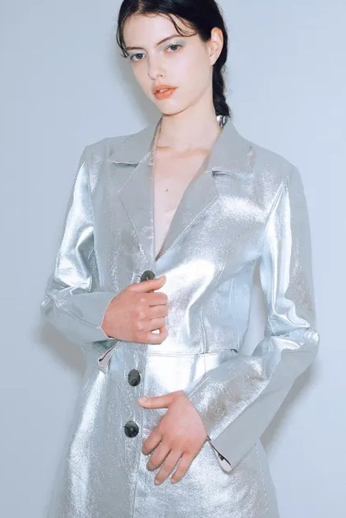 Leather Wallet - Silver SA-0110G