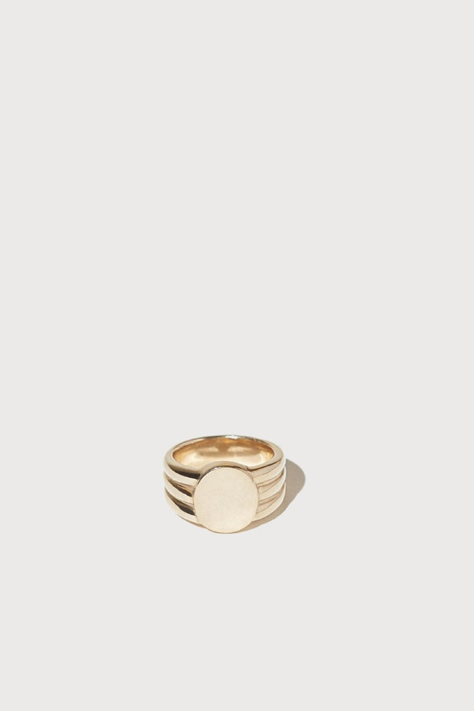 Gold Stacked Signet