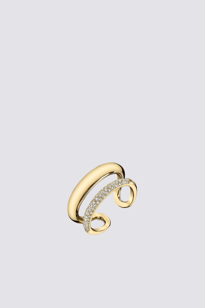 Pave Twin Tusk Ring