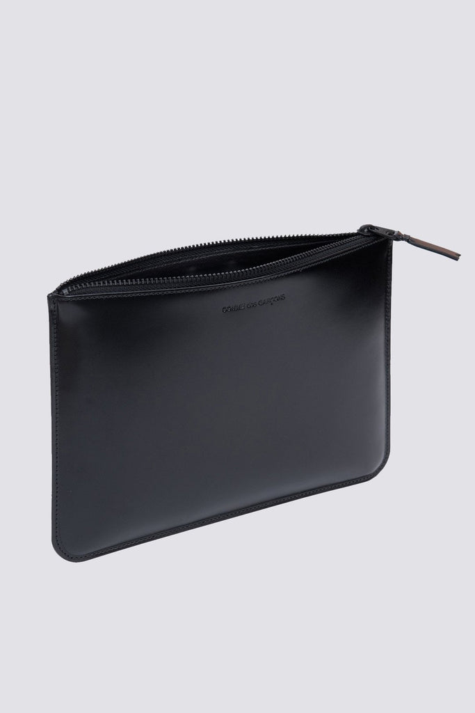 Leather Zip Wallet - Very Black - SA-5100VB