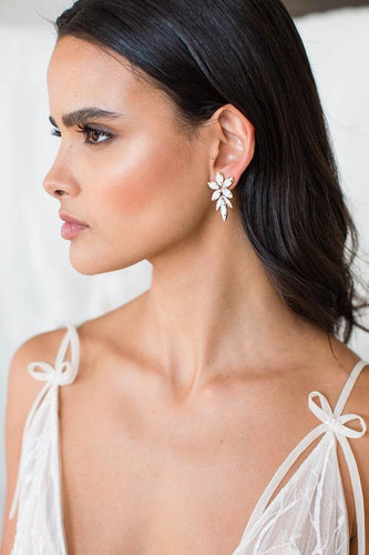 Opal and silver earrings by Brides & Hairpins
