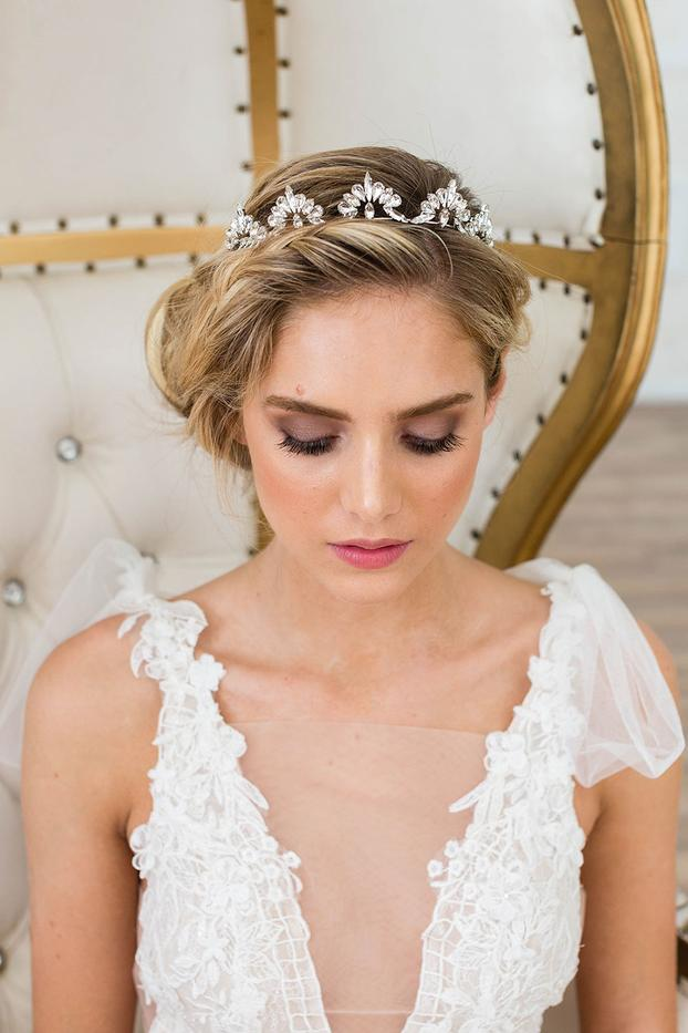 Roma Crown in Silver by Brides & Hairpins