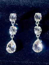 Load image into Gallery viewer, Sabelle silver rhinestone drop earrings