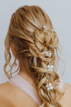 Load image into Gallery viewer, Ava pearl flower hair pin by Carrie Whelan Designs