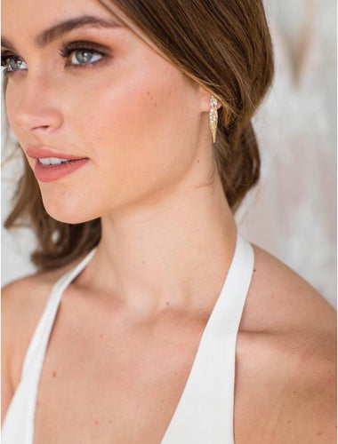 Cammi gold earrings
