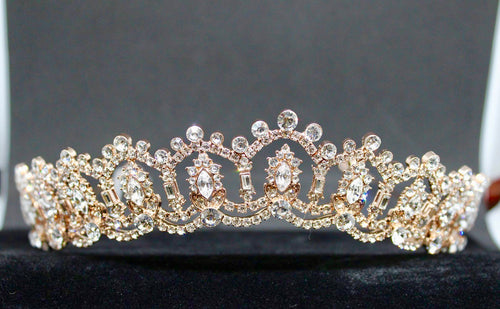 Maxima rose gold tiara