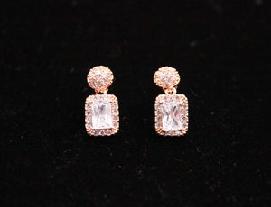 Empress earrings in Rose Gold