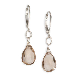 Grace Champagne gemstone drop earrings in by American Designer Carrie Whelan