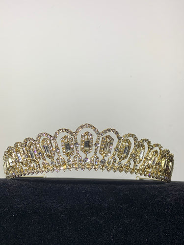 Rosemund gold and rhinestone tiara