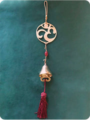 Brass Bell with Red Tassel