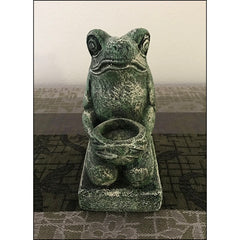 Green Frog Votive Holder