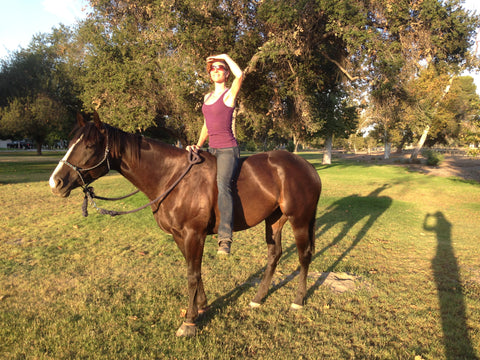 Miss Chloe and I out for a bareback ride!