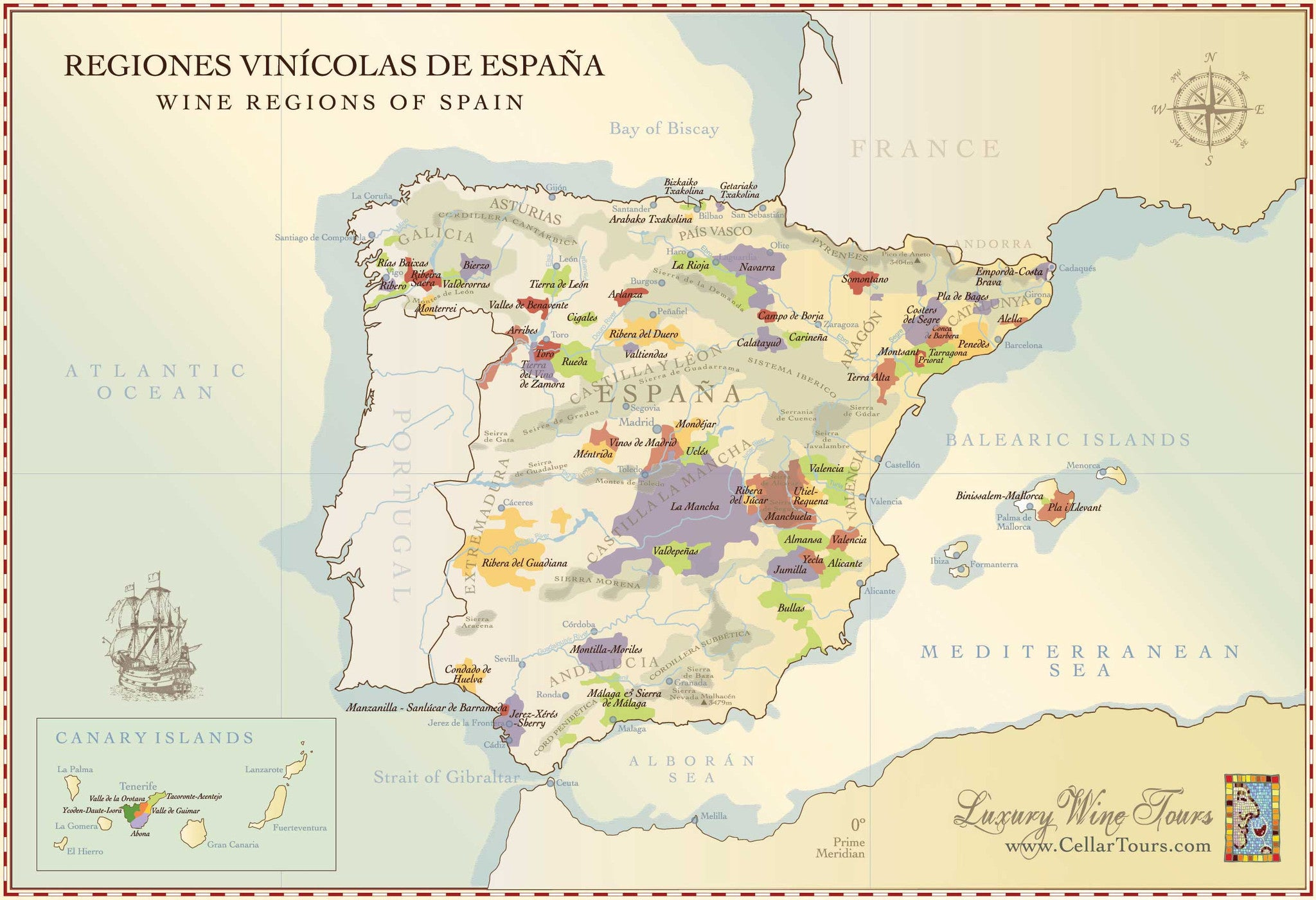 Map Of Portugal And Spain.Spain Portugal Classic Wines By Nycwinecompany Nyc Wine Company