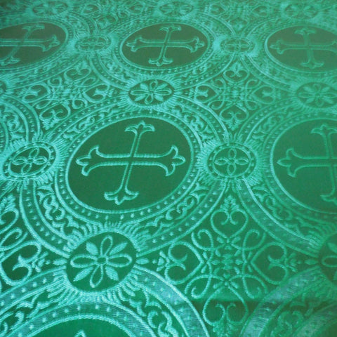 Green Brocade Fabric