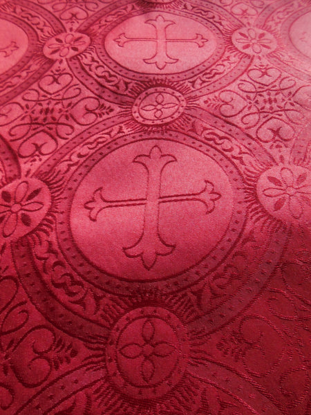 Red Brocade Fabric