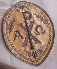 Chi Rho Emblem - Brown
