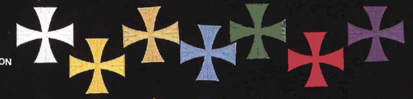 Greek Cross Pattee Rayon Embroidered Applique
