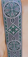 Green and Silver Celtic Trim