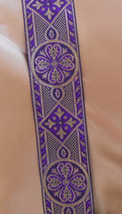 Purple and Gold Celtic Trim