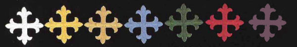 Greek Square Cross in Different Colors, 2""