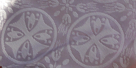 White Vestment Fabric
