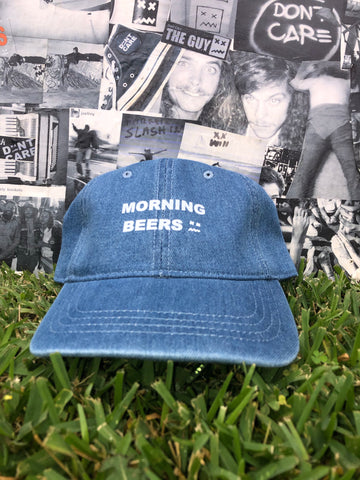 Morning Beer Denim Dad Hat