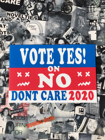 Vote yes on no sign
