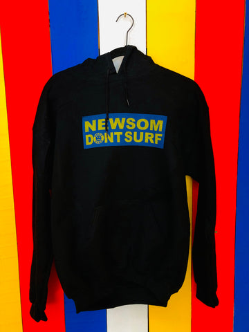 Newsom Dont Surf Hoodie Black