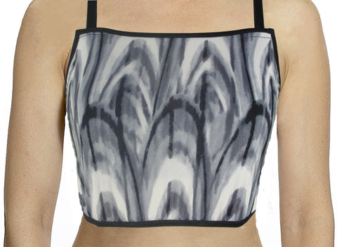 Black and Grey Swirl Mini Camisole Full Figure