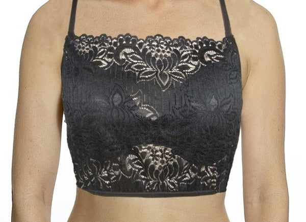 Petunia Black Scallop Lace Mini Camisole