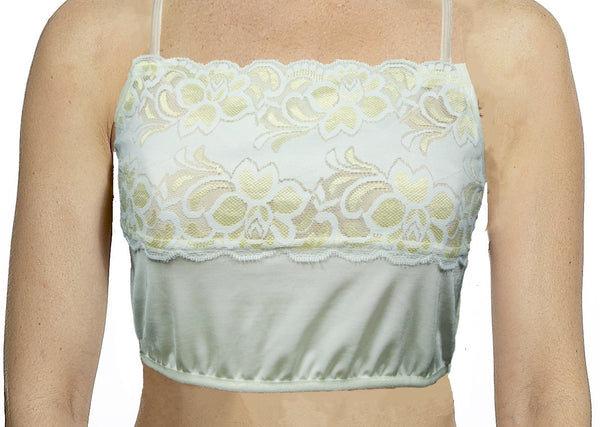 Two-Tone Scallop Lace Mini Camisole Full FIgure