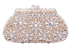 'Crystal' Flower Clutch