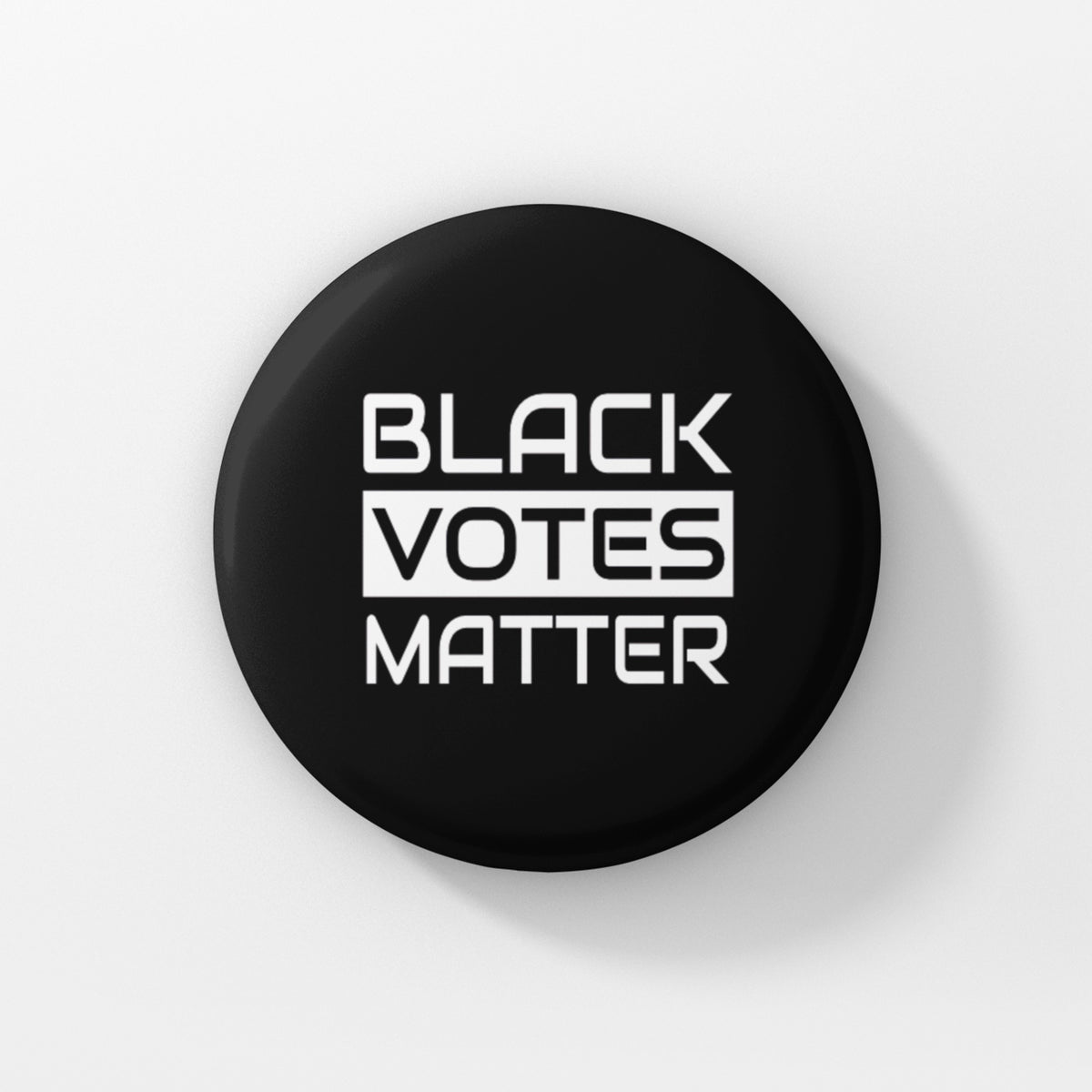 "BLACK VOTES MATTER - 1.5"" Pin-Back Button - I.AM.LUV by V"