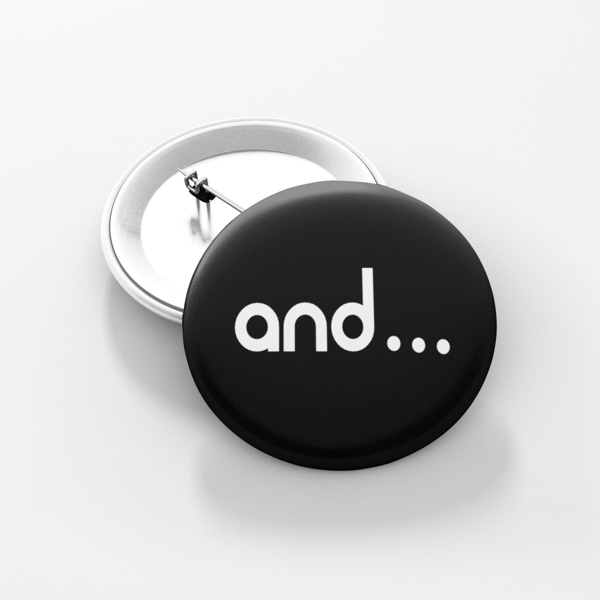 "AND  - 1.5"" Pin-Back Button"
