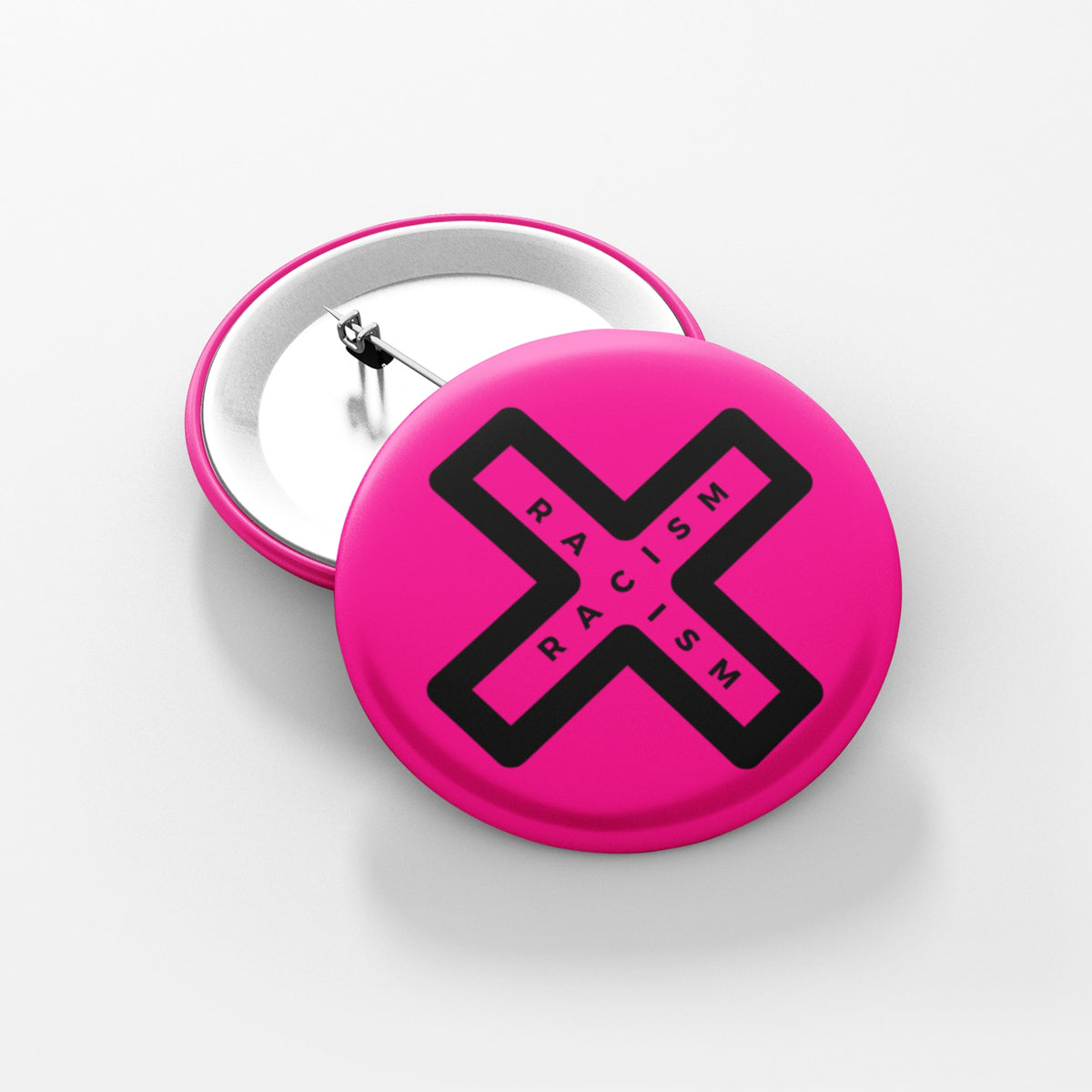 "END RACISM  - 1.5"" Pin-Back Button"