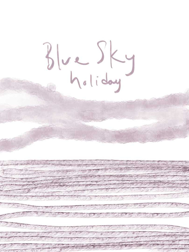 Blue Sky Holiday Art Poster