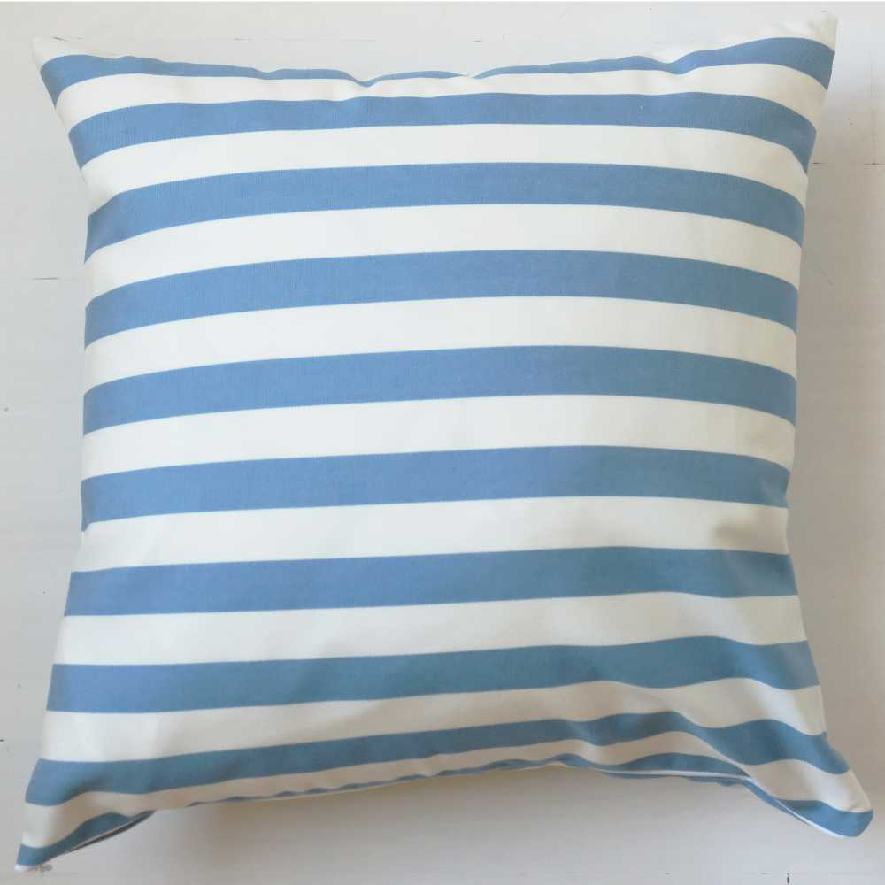 Blue and white striped pillow covers