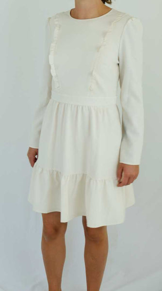 Cream Tiered Dress