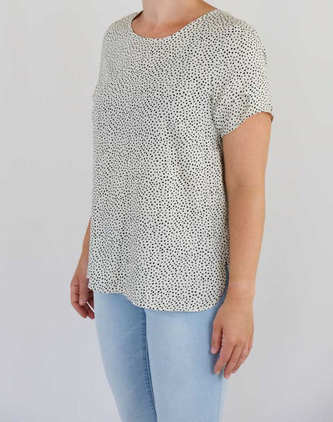 Dotty Blouse Tee