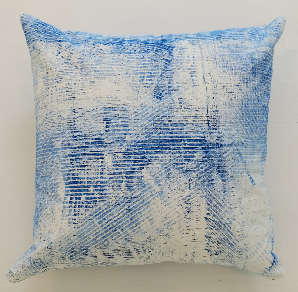 Indigo Crosshatch Pillow | Limited