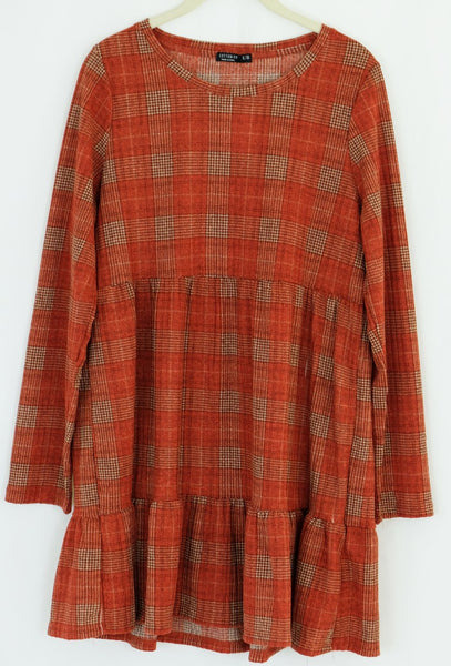 Orange Plaid Tunic