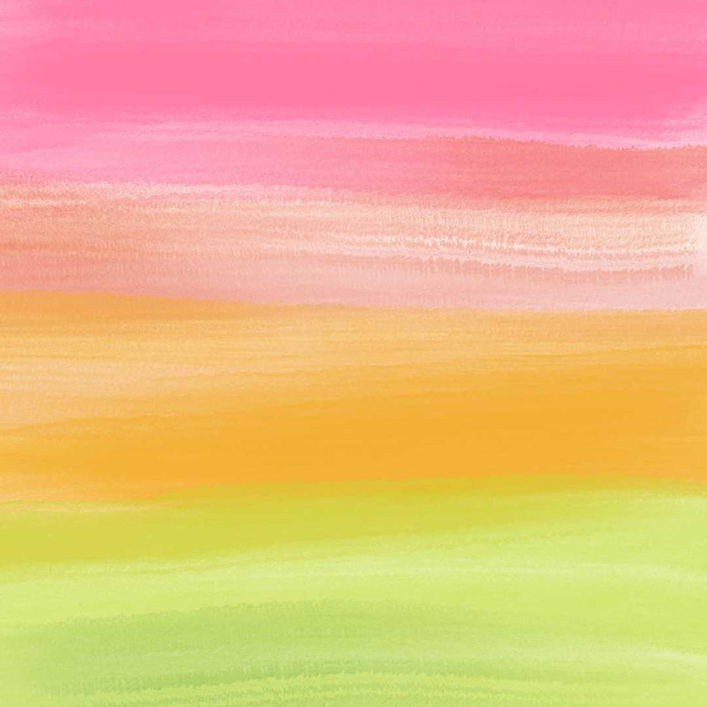 Pink Orange Lime Abstract Art