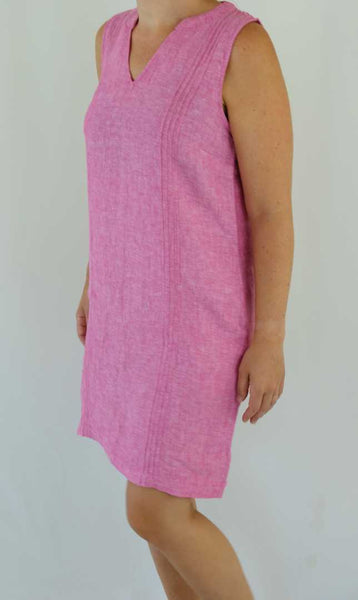 Resort wear pink shift dress