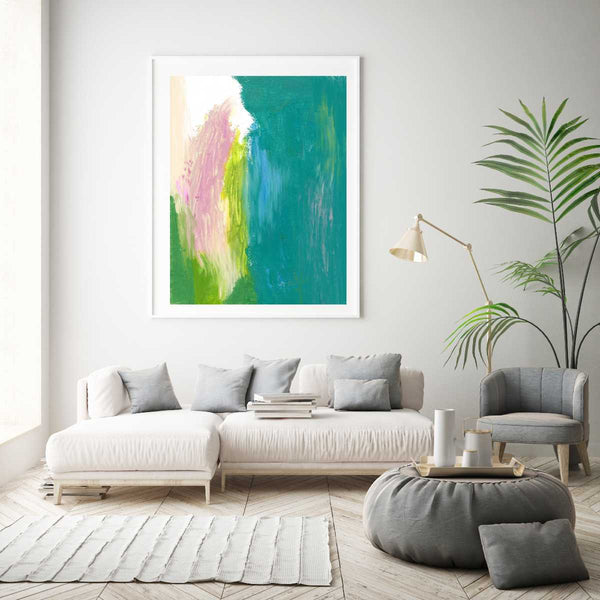 Teal abstract art | Limited Edition