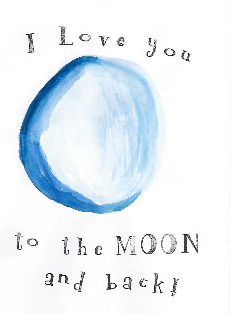 Love you to the Moon Illustration