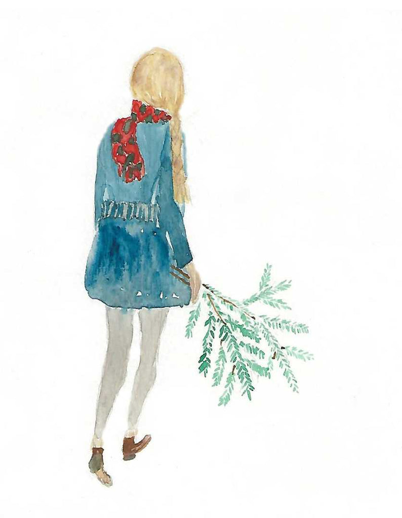 Winter Girl Card