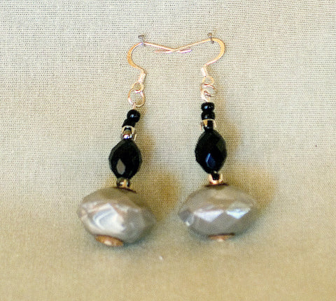 Blue Gray Earrings by Jaz - Sonarta.com