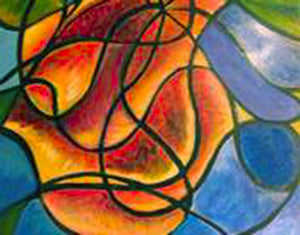 "Open image in slideshow, Rose - Sonarta.com ""Rose"" is an Acrylic Painting on Wood by artist Shahla Rahimi Reynolds  It is 24"" H X 30"" W."