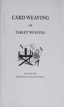 Card Weaving or Tablet Weaving Book