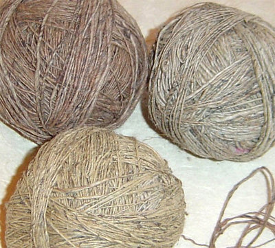 Frabjous Fibers Fair Trade Handspun Nettle Yarn